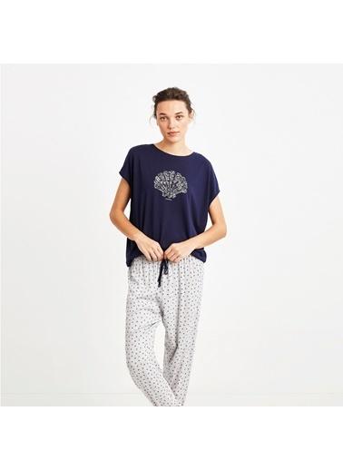 Nautica W105PJTK.LACI Nautıca Kadın Lacivert Pijama Takımı Lacivert